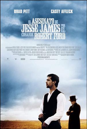 """Cartel de la película """"El asesinato de Jesse James por el cobarde Robert Ford"""""""