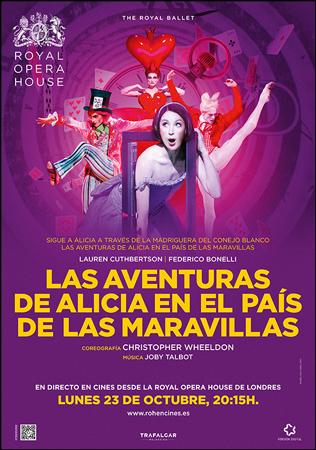 """Cartel de la proyección """"Alice`s Adventures in Wonderland"""""""