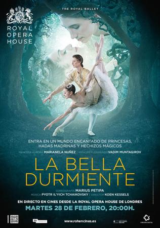 """Cartel de la proyección """"La Bella Durmiente"""""""