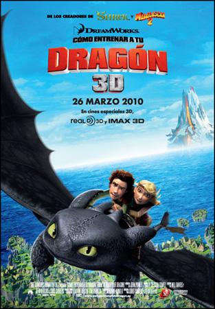 """Cartel de la película """"Cómo entrenar a tu dragón"""""""