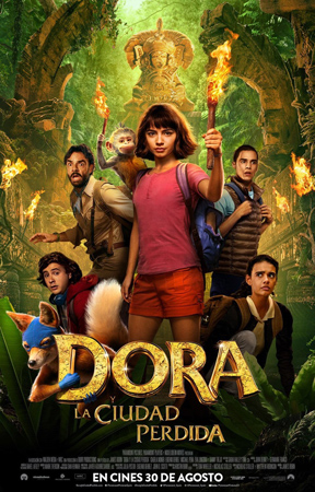 """Cartel de la película """"Dora y la ciudad perdida"""""""