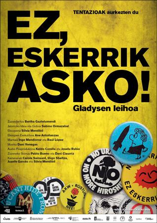 """Cartel de la película """"Ez, eskerrik asko! Gladysen leihoa"""""""