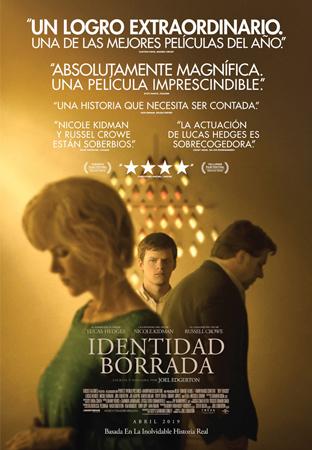 """Cartel de la película """"Identidad borrada"""""""