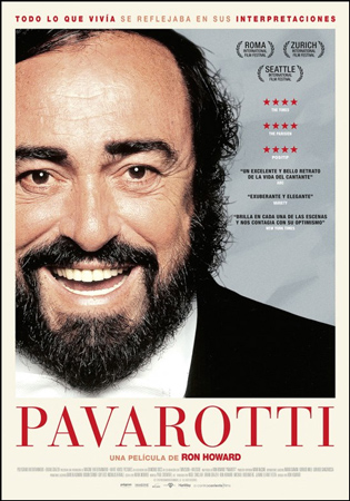 "Cartel de la película ""Pavarotti"""