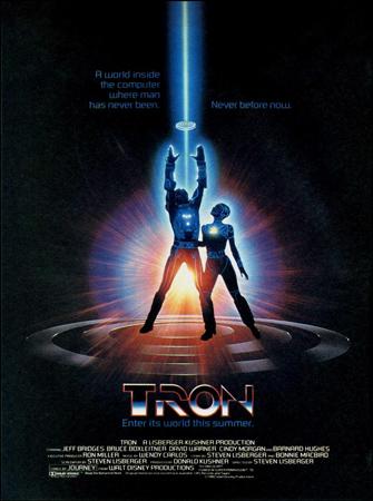 """Cartel de la película """"Tron"""""""