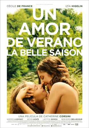 """Cartel de la película """"Una mor de verano (La belle saison)"""""""