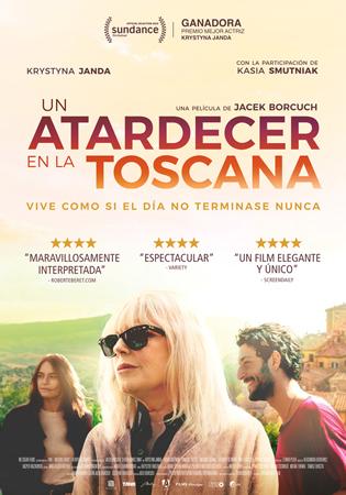 """Cartel de la película """"Un atardecer en la Toscana"""""""