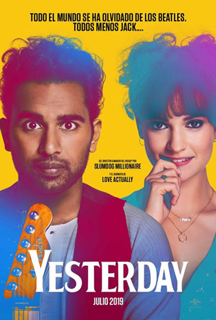 """Yesterday"" pelikularen kartela"