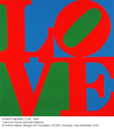 Erakusketaren obra bat (Robert Indiana. LOVE 1967)
