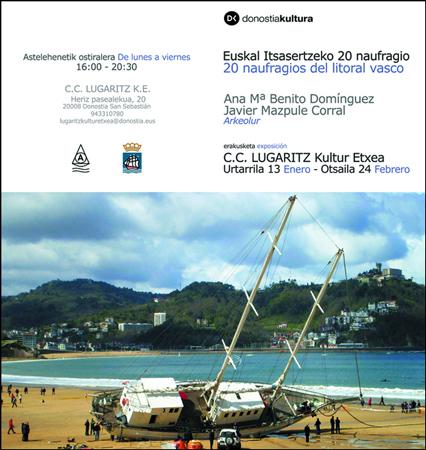 """Imagen 1 de la galería de Exposición: """"20 Naufragios Del Litoral Vasco"""""""