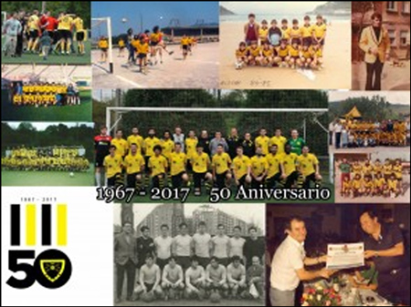 """Folleto de la exposición """"50º Aniversario del C.D. Roteta"""""""