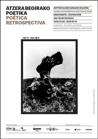 """Folleto de la exposición """"Poética retrospectiva. Fondo Fotográfico Antton Elizegi"""""""
