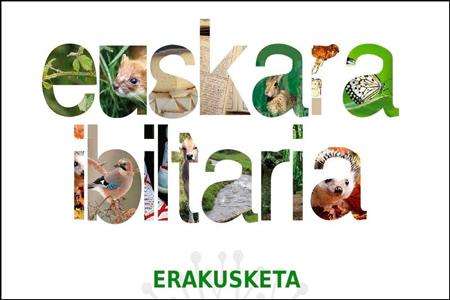 "Cartel de la exposición ""Euskara ibiltaria"""