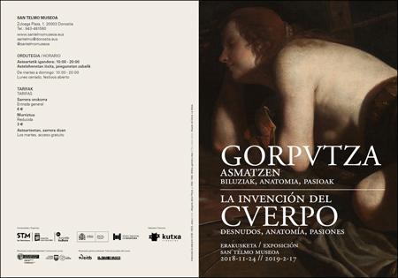 """Folleto de la exposición """"La invención del cuerpo. Desnudos, anatomía, pasiones"""""""