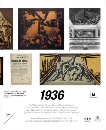 """Folleto de la exposición: """"1936. José María Sert y la Sociedad de las Naciones"""""""