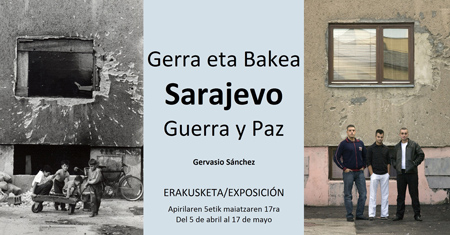"""Folleto de la exposición """"Sarajevo, guerra y paz"""""""