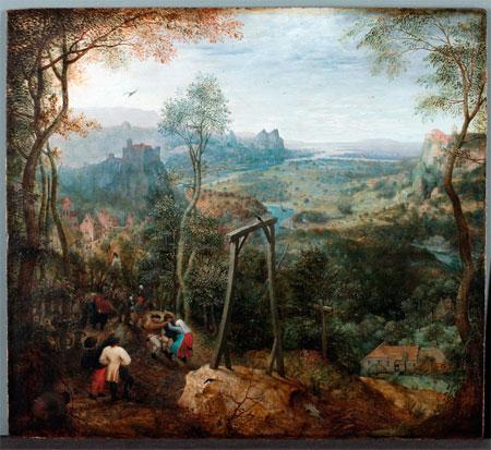 Pieter Brueghel, Die Elster auf dem Galgen, ca 1568. Hessisches Landesmusum Darmstadt. Fotografía: W