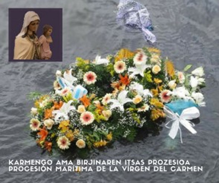 Cartel de la Procesión Marítima de la Virgen del Carmen de Donostia