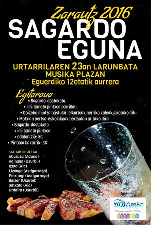 2016ko Sagardo Egunaren kartela