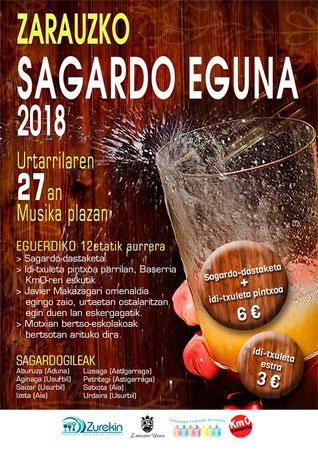 Cartel del Sagardo Eguna de Zarautz 2018