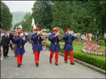 """Momento de la procesión de """"Saninazioak"""" de Azpeitia a Loiola"""