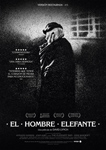 """""""El hombre elefante"""" pelikularen kartela"""