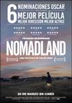 """Nomadland"" pelikularen kartela"