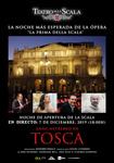 """Cartel de la proyección """"Tosca"""""""