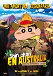 """""""Shin Chan en Australia. Tras las esmeraldas verdes"""" pelikularen kartela"""