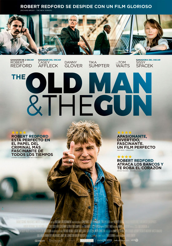 """The Old Man & the Gun"" pelikularen kartela"