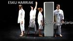 """Cartel del espectáculo """"Esku Harriak: Oteizaren (h)aria"""""""