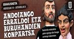 """Folleto de la exposicion """"Andoaingo Erraldoi eta Buruhandien konpartsa"""""""