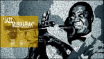 """Folleto de la exposición """"Jazz musikariak"""" de Francisco Javier de la Torre"""
