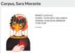 """Folleto de la exposición """"Corpus"""" de Sara Morante"""