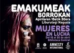 """Folleto de la exposición """"Mujeres En Lucha"""""""