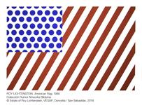 Obra de la exposición (Roy Lichtenstein. American Flag 1985)