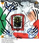 Obra de la exposición (Keith Haring. Apocalypse VI 1988)