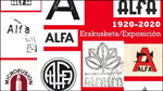"""Folleto de la exposición """"Alfa 1920-2020"""" de Eibar"""