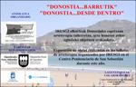 """Folleto de la exposición """"Donostia...desde dentro"""""""