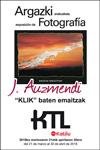 """Cartel de la exposición """"Klik baten emaitzak"""" de Julian Auzmendi"""