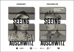 """Cartel de la exposición """"Seeing Auschwitz"""" de Donostia"""