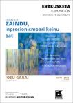 """Folleto de la exposición """"Zaindu, inpresionismoari keinu bat"""" de Iosu Garai"""
