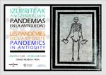 """Cartel de la exposición """"Pandemias en la Antigüedad"""" de Irun 2020"""