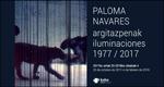 """Folleto de la exposición """"Paloma Navares. Iluminaciones"""""""