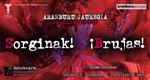 """Folleto de la exposición """"Sorginak! - ¡Brujas!"""" de Tolosa 2020"""