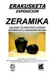 Cartel de la exposición de cerámica de Xalinko en Legazpi 2017