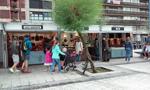 Momento de la Feria de Artesanía de la Semana Grande de Donostia