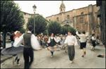 Momento de las Fiestas Andramaixek de Azkoitia