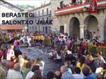 Momento de las Fiestas de San Lorenzo de Berastegi