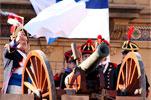Momento del Cañonazo de la Semana Grande de Donostia